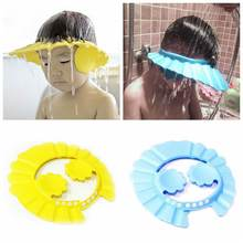 Durable Baby Bath Visor Hat Adjustable Kids Shower Protect E