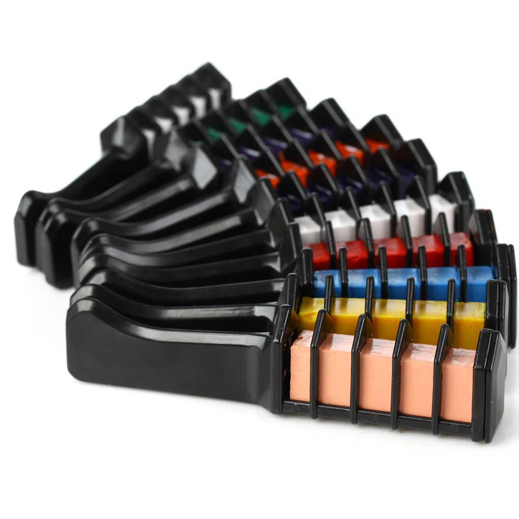 Temporaire De haute Qualité Mini Jetable Crayons de Teinture De Couleur De Cheveux Mascara Teinture Craie Boîte Avec Brosse