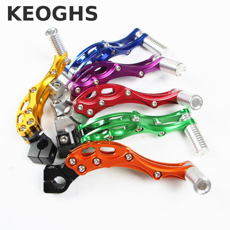 Keoghs Motorcycle Scooter Kick Starter/start Lever Cnc For Yamaha Scooter 100cc Jog100 Force100 Rsz100 Dio50 Jog50 Jog90 keoghs motorcycle front cradle drop hanger frame hanger frame hanging bracket dog bone for yamaha scooter rsz jog force 100