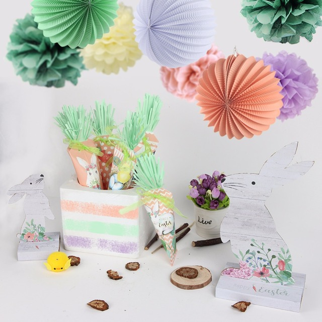 Easter Decorations For The Home Outdoor Tree Decoration Carrot Banners  Paper Lanterns Pompoms For Happy Easter