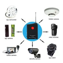 Free Shipping Multi function Detectable RF / LENS Detector Full Range Wireless Camera GPS Spy Bug RF Signal GSM Device Finder