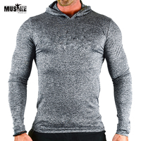 Sweatshirts Hoodies Men Bodybuilding Fitness Workout For Male Brand Clothing Sportswear Slim Fit MUSCLE ALIVE Stretchy