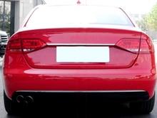 Снаружи Car Kit Задняя Крышка багажника загрузки ворота центр полоса накладка Нержавеющаясталь для Audi A4 B8 2008 2009 2010 2011 2012