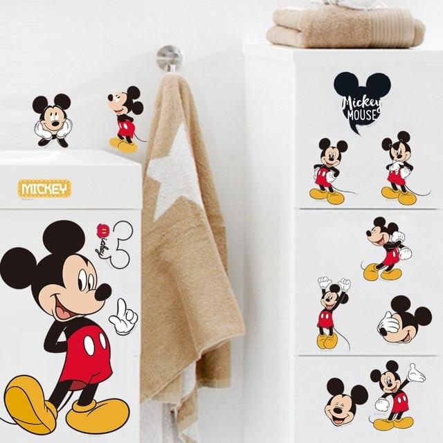 US $0.96 20% OFF Aliexpress.com : Heißer verkauf Mickey Mouse Minnie Maus  Bad Dekoration Cartoons glas Wandaufkleber für Kinderzimmer Wohnkultur ...