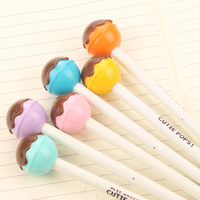 48 Pcs Lot Cute Lolipop Pen Pops Black Ink Chocolate Lollipop Kawaii Pens Stationery Cute Office