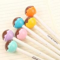 48 Pcs Lot Cute Lolipop Pen Pops Black Ink Chocolate Lollipop Kawaii Pens Stationery Cute Office
