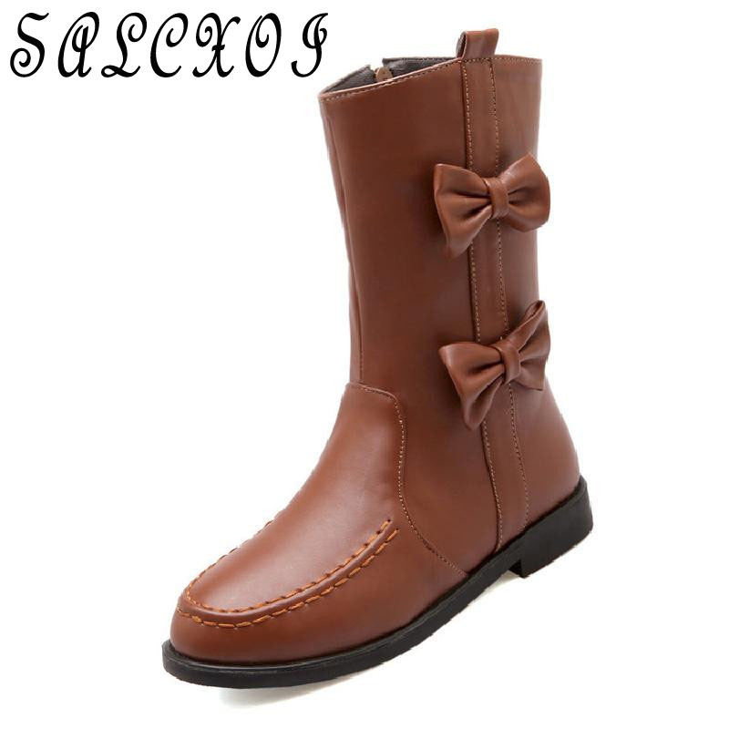 winter boots women ankle boots for women snow boots flat with white boots for girl butterfly-not shoes woman free shipping &X2