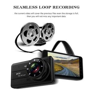 Image 3 - جهاز تسجيل فيديو رقمي للسيارات 2 كاميرات عدسة 4.0 بوصة HD داش عدسة كاميرا مزدوجة مع كاميرا الرؤية الخلفية مسجل فيديو السيارات المسجل DVRs داش كام