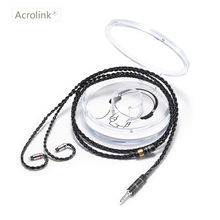 Acrolink 2Pin Connector 3.5mm Plug 8-Core 99.99% pure silver Earphone Cable For W4R SE3 SE5 UM3X With Ear Hook стоимость