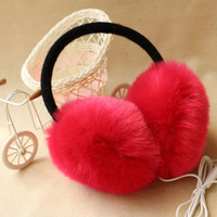 Quality Winter Plush Warm Headphones Wired PC Music Over Ear Earmuff Earphone Computer Phone Headset Women