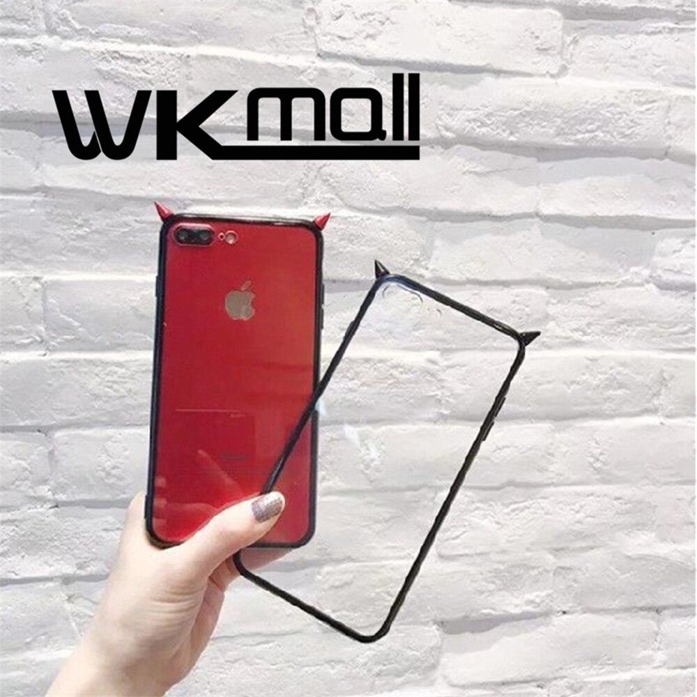 Moda 3D Demon esquina Caja Del Teléfono para El Iphone 7 7 Plus 6 6 S más Cartoo