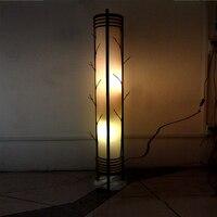 Classical Style Sheepskin Lamp Bedroom Living Room Handmade Wood Bamboo Floor Lamp