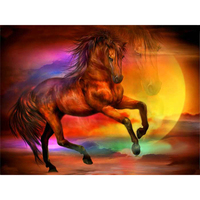 Diamond Embroidery Horse Fairyland 3d Diamond Painting Needlework Cross Stitch Pattern Square Rhinestone Handmade Crafts