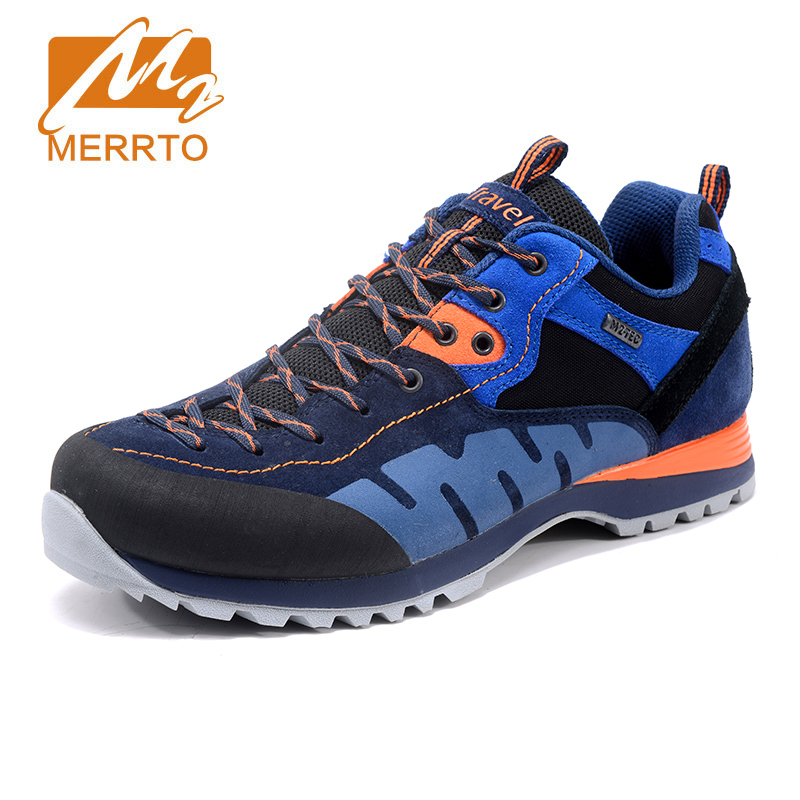 MERRTO Men's New Outdoor Sports Shoes Non Slip Hiking Shoes Solid Climbing Shoes Breathable Cushioning Hunting Shoes Sneakers 2017 merrto womens outdoor hiking shoes breathable warmth sports shoes non slip climbing shoes for women free shipping mt18685