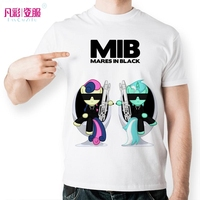 New Creative Men In Black T Shirt Classical Anime My Little Pony T Shirt Cartoon Twilight