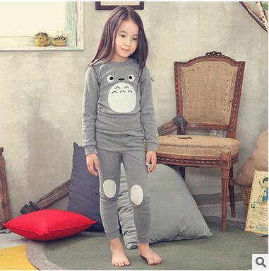 Winter kids pijamas Mi Vecino Totoro niñas traje de ropa deportiva de algodón establece niños ropa pijamas de los cabritos del muchacho de la navidad