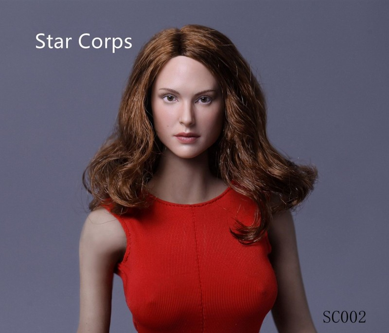 Star Crops SC002 1/6 Natalie Portman Head Sculpt F/Female HT VERYCOOL Body Head carving Collection Doll Toys mnotht 1 6 star crops female head carving nathalie portman carved head model for 12in figures l25