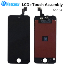 LCD Display Touch Screen DigitizerTouch Panel Glass Lens Assembly Replacement Parts For iPhone 5S LCD TouchScreen