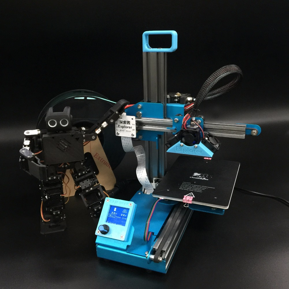 Funssor Assembled Explorer 3D printer full kit  With  single extruder
