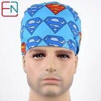 Unisex Scrub Hats In Blue Surgical Caps Men