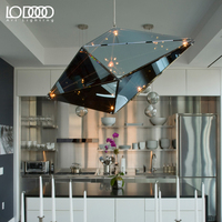 LODOOO Modern Art Deco Pendant Lights Glass Black Gold Bar Stair Dining Room Shade Suspension Luminaire