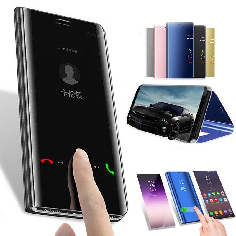 Mirror Flip Case For Samsung Galaxy A50 A40 S8 S9 A70 A60 A10 A30 A20 J4 J6 Plus 2018 A90 A80 A5 A7 J5 J7 2017 2016 Phone Cover