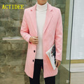 2017 Spring Autumn Winter British Style Long Wool Trench Coat Men Single Breasted Men's Jacket Brand Casual Overcoat 5XL 4XL 3XL