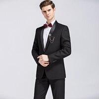 High Quality 2017 Brand Clothing Men Suits Classic Shawl Collar Designed Men S Royal Black Tuxedo