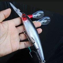1pcs Ocean Fishing Big Game Minnow Artificial Lure Glow Belly 55g Jigbait Plastic Lures Hard Bait Boat Trolling Tackle
