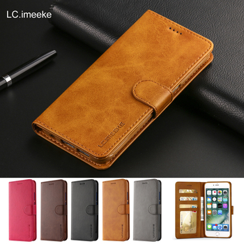 Retro Luxury Leather Flip Case For iPhone 6 s 7 8 plus iPhone x XS Max XR Wallet Cover iphone 6s Case With Card Holder Phone Bag