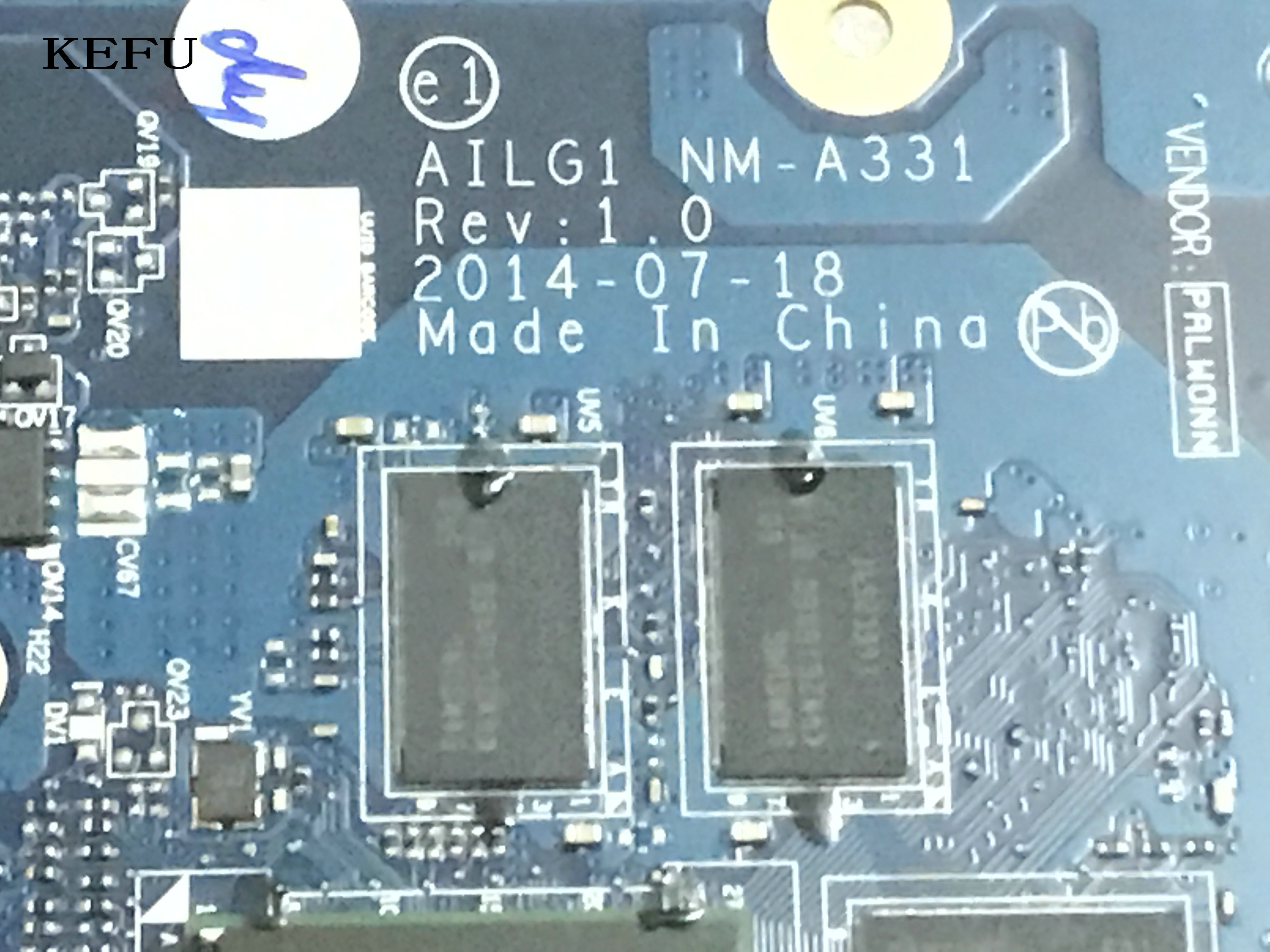 KEFU  100% NEW  AILG1 NM-A331 MAINBOARD FIT FOR LENOVO  Z70-80 / Z70-70 LAPTOP MOTHERBOARD   PROCESSOR + VIDEO CARD ON BOARDKEFU  100% NEW  AILG1 NM-A331 MAINBOARD FIT FOR LENOVO  Z70-80 / Z70-70 LAPTOP MOTHERBOARD   PROCESSOR + VIDEO CARD ON BOARD