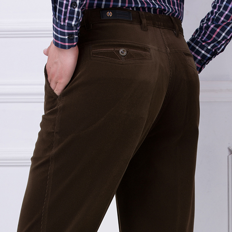 In the fall and winter of 2018 thick corduroy article mens trousers, leisure trousers loose sweat pants