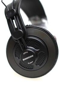 Image 3 - Original Samson SR850 professional monitor Headphone Semi open Studio Headset one pair two pieces package
