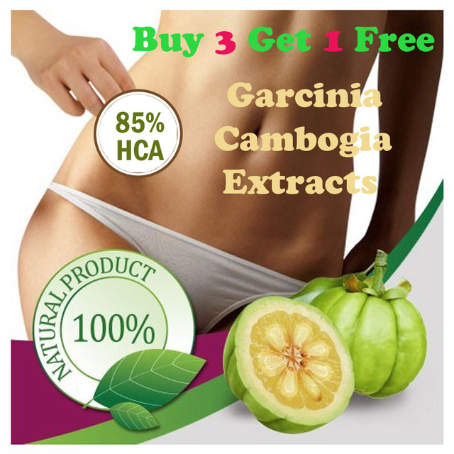 (BUY 3 GET 1 FREE) 30 DAYS USE Pure garcinia cambogia extracts weight loss 85% HCA 100% effective for slimming diet supplement