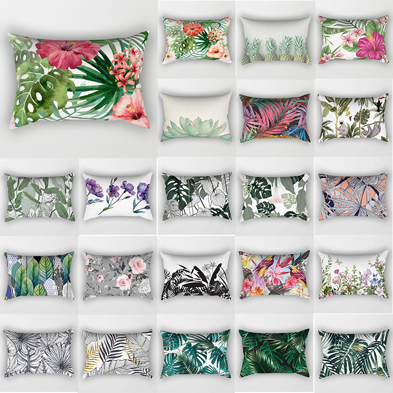 Tropical Beauty Flowers Plants Pillow Case Travel Bedroom Pillow Cover Rectangle Pillow Cases Sleep  Pillow Cases 30*50 Cm