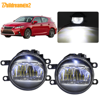 Buildreamen2 For Lexus CT200h 2011 2012 2013 2014 Car 4000LM Projector Lens Fog Light LED Bulb Daytime Running Light DRL H11 12V
