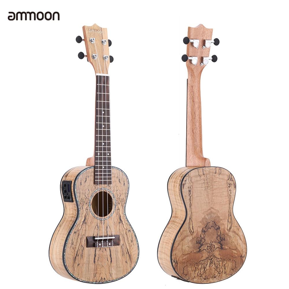 ammoon Deadwood Ukulele 24\' Ukelele mini Acoustic Guitar with LED EQ ...