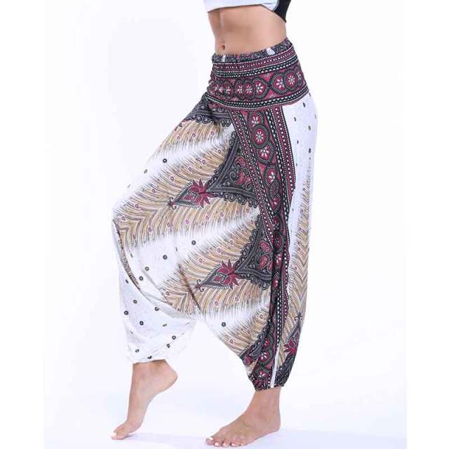 Ladies Comfy Yoga leggings Baggy Gypsy Sexy Women Harem Pants wide leg Indian Winter Loose Yoga legins Mandala Art dancing pant-in Yoga Pants