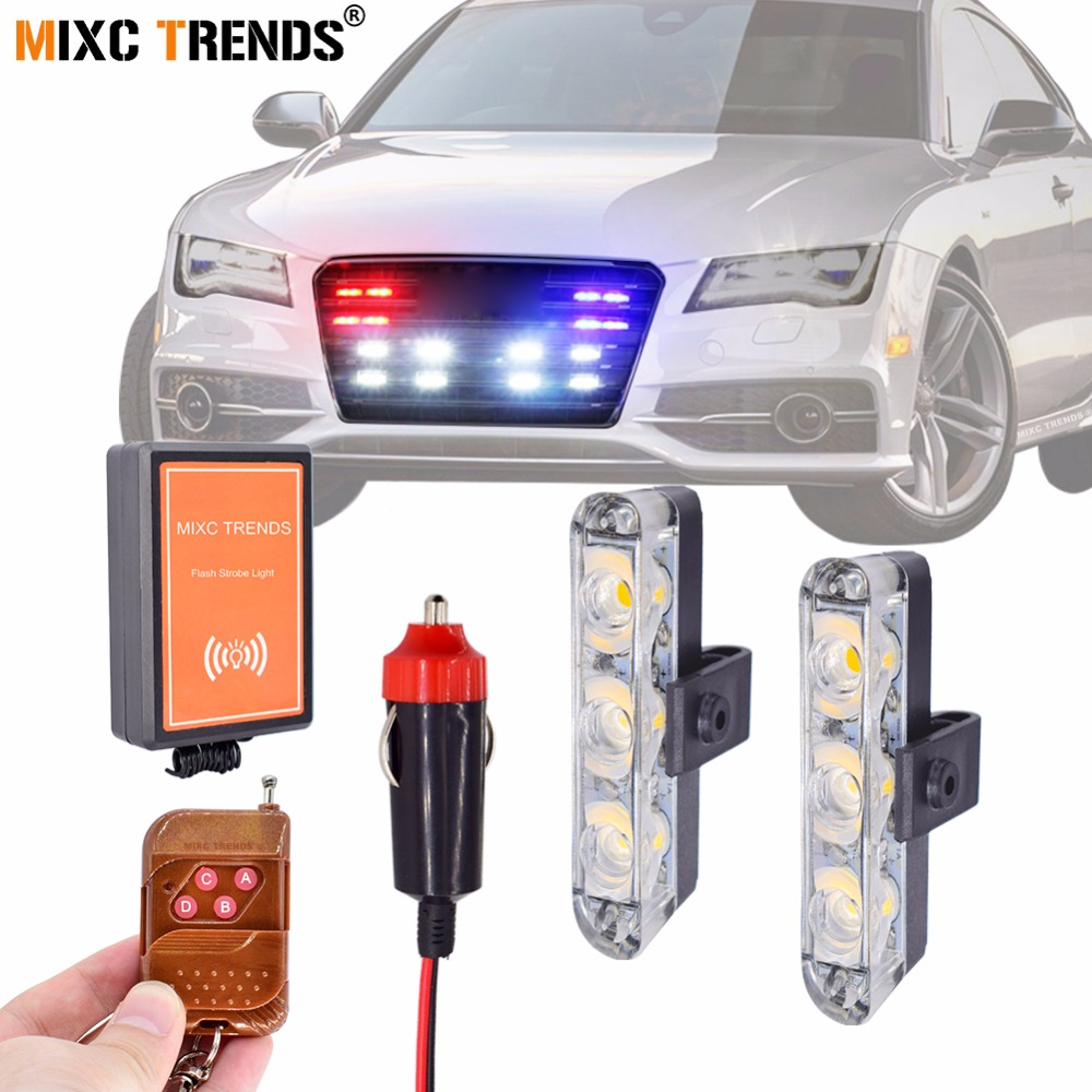 Vehicle Strobe Lights >> Us 14 76 49 Off Wireless Remote Strobe Light Vehicle Led Emergency Light For Car Motorcycle Tow Truck Flashing Warning Police Led Grill Lights In