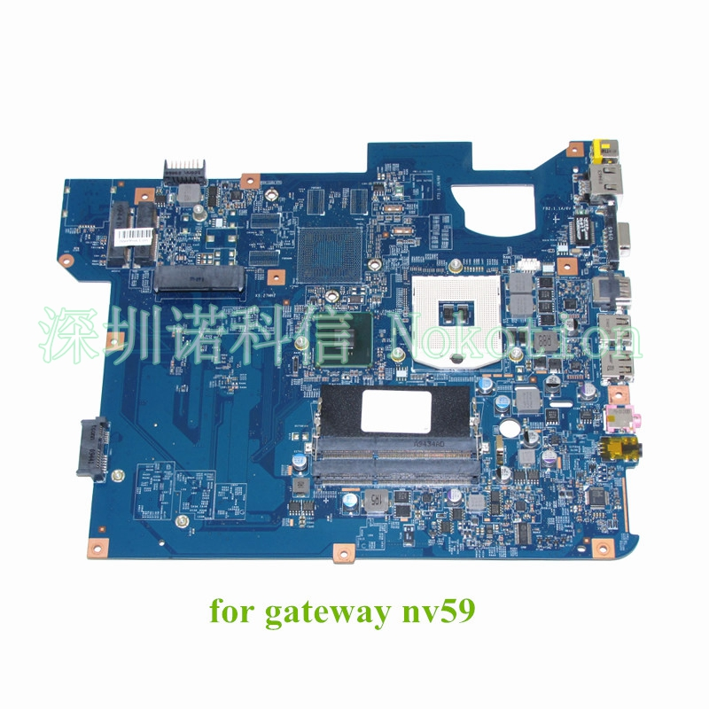 NOKOTION 48.4GH01.01M For gateway NV59 Laptop motherboard HM55 DDR3 MBWHE01001 MB.WHE01.001 warranty 60 days for hp laptop motherboard 6570b 686976 001 motherboard 100% tested 60 days warranty