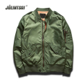 Spring Autumn Pilot Bomber Jacket Men 2016 Long Sleeve Windbreaker Jaqueta Masculina Army Green Mens Jackets And Coats