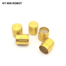 5Pcs 15*17MM Gold Metal 6mm Knurled Shaft Potentiometer Control Knobs