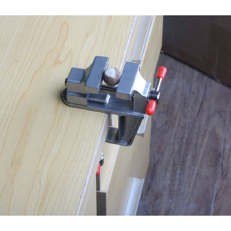 Table Vices Mini Clamp-on Bench Vise Aluminium alloy small Bench Vice Power Tool Drill Clamp DIY Work Woodworking Bench Clamp  mini table vice aluminium alloy bench vise universal machine mini fixed repair tool widely used for diy craft clamp vise