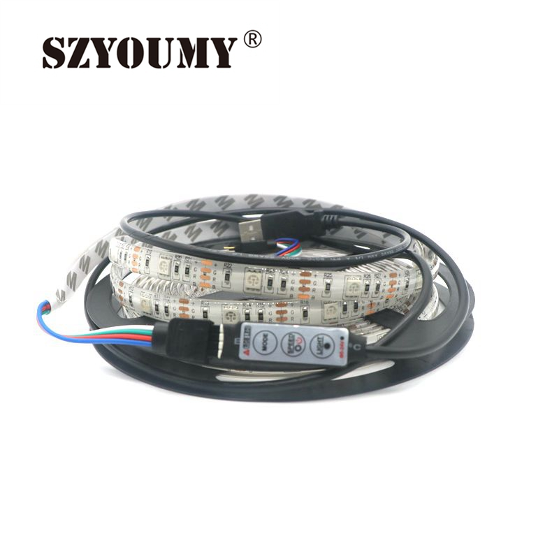 SZYOUMY Waterproof RGB 5050 SMD USB font b LED b font font b Strip b font