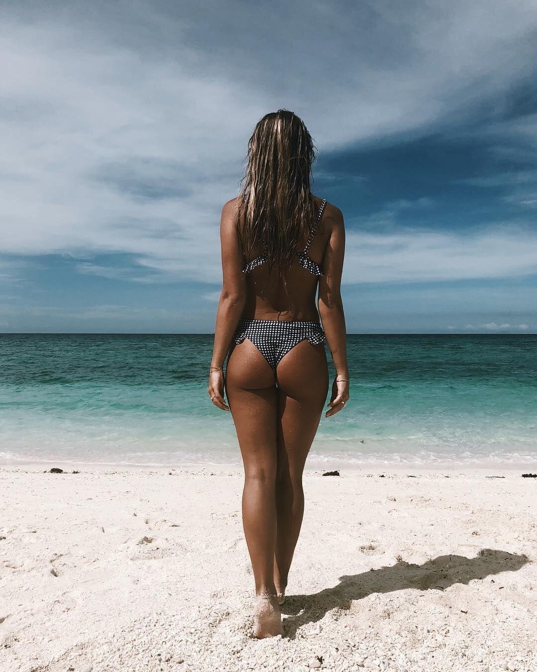 Женский комплект бикини танкини в клетку с рюшами и пуш-ап, Бразильский купальный костюм из 2 предметов, купальник бикини, пляжная одежда
