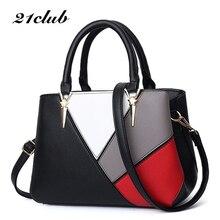 21 CLUB Merk Mode Patchwork Hoge kwaliteit Dames Bakken Werken Veelzijdige Portemonnee Vrouwen Crossbody Messenger Bags Vrouwelijke Handtassen