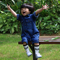 Ropa de bebé 2017 Recién Nacido ropa Para Bebés de Primavera Otoño Ropa de Mezclilla de Algodón Ropa de Bebé Ropa Del Bebé Del Mono Overol de Mezclilla