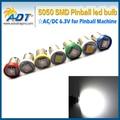 Ba9s 100 unids envío libre #44 #47 AC 6.3 V 5050smd pinball bombillas led para la máquina de juego de pinball parts No parpadeo anti fantasma