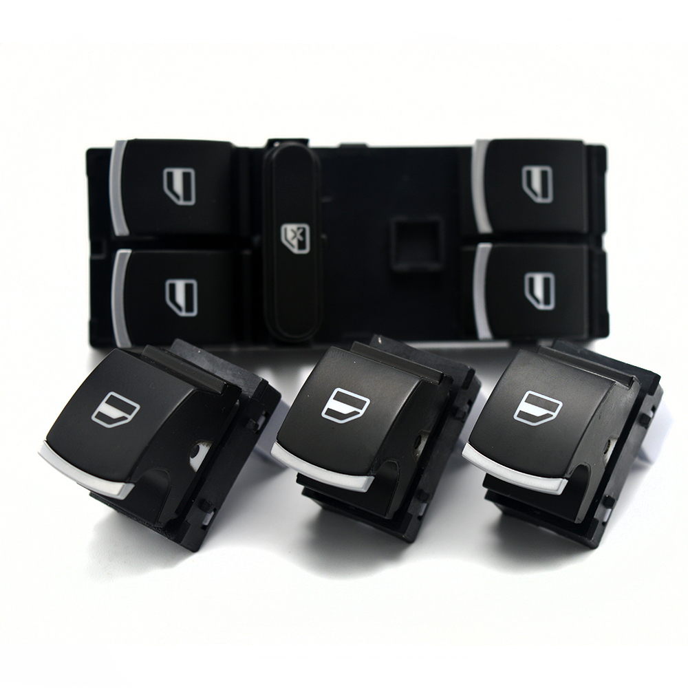 1 Day issue !New chrome master Window Switch for volkswagen VW jetta 5 6 golf&GTI 5 6 to ...