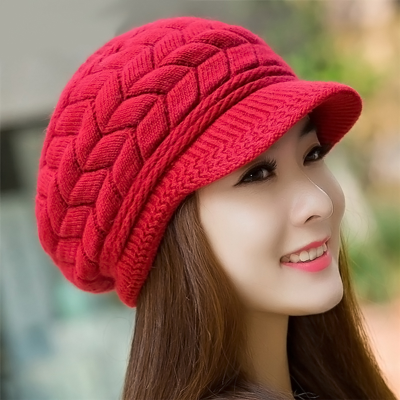 Knitted   Skullies     Beanies   For Women Winter Hat Cap Female Girls Autumn Outdoor Caps Casual Fashion Woman Knit   Beanie   Bonnet
